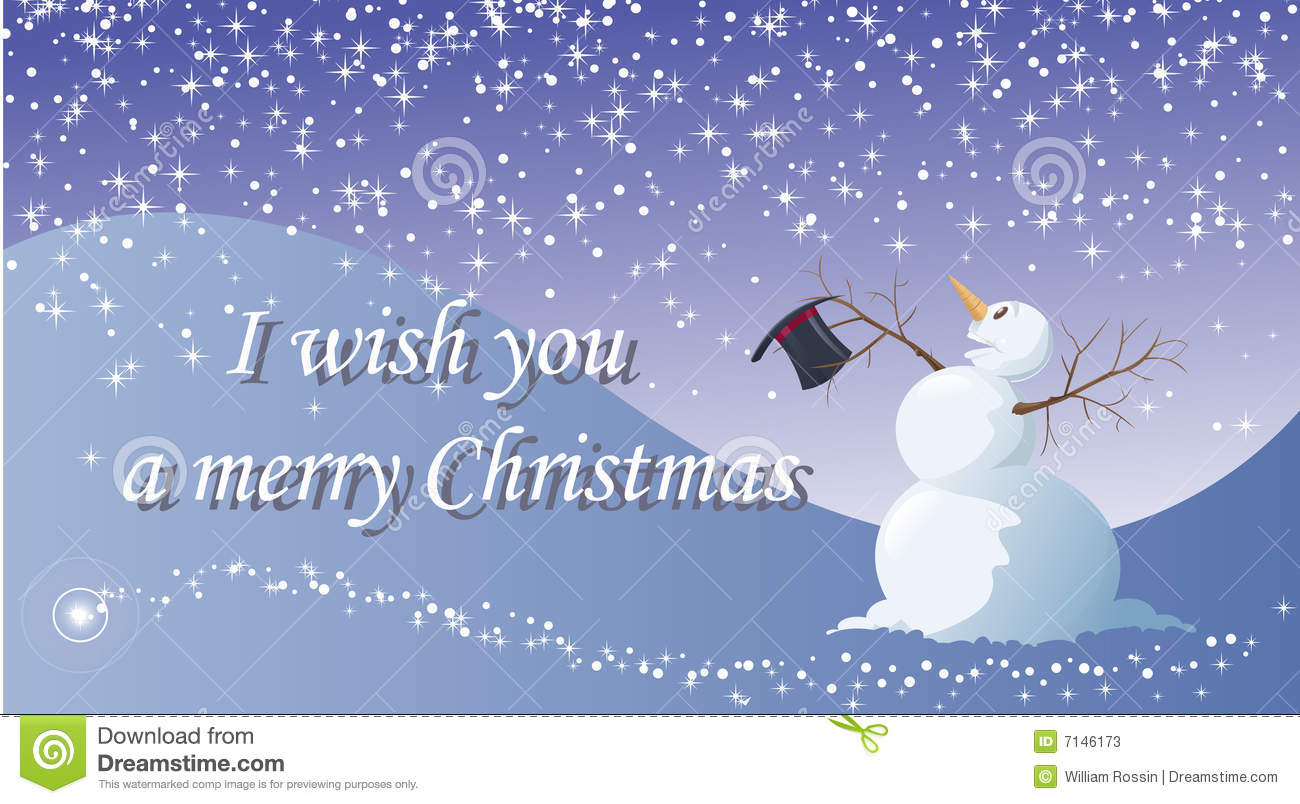 I Wish You A Merry Christmas Stock Photos - Image: 7146173