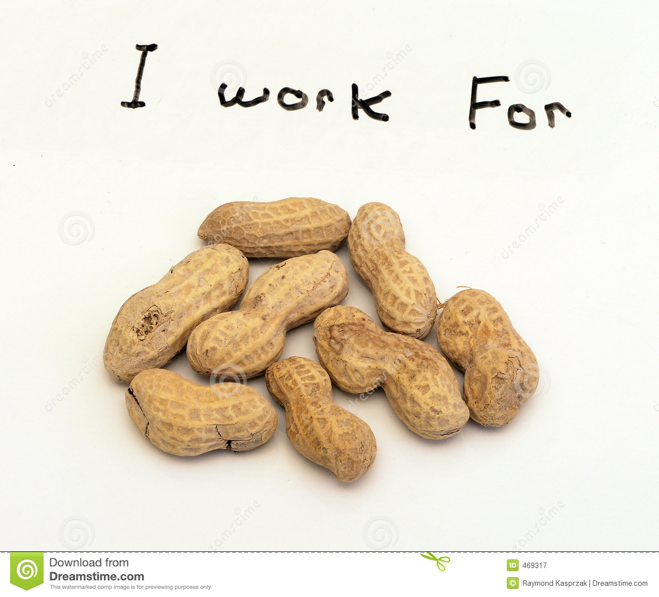 Download I work For Peanuts stock image. Image of cheap, seed, arachis - 469317
