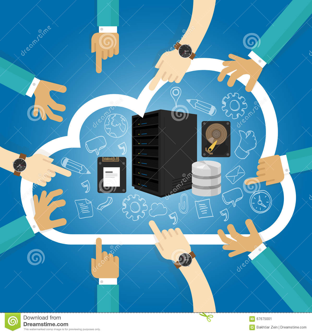 IaaS Infrastructure as a service shared hosting hardware in the cloud storage database server virtualization