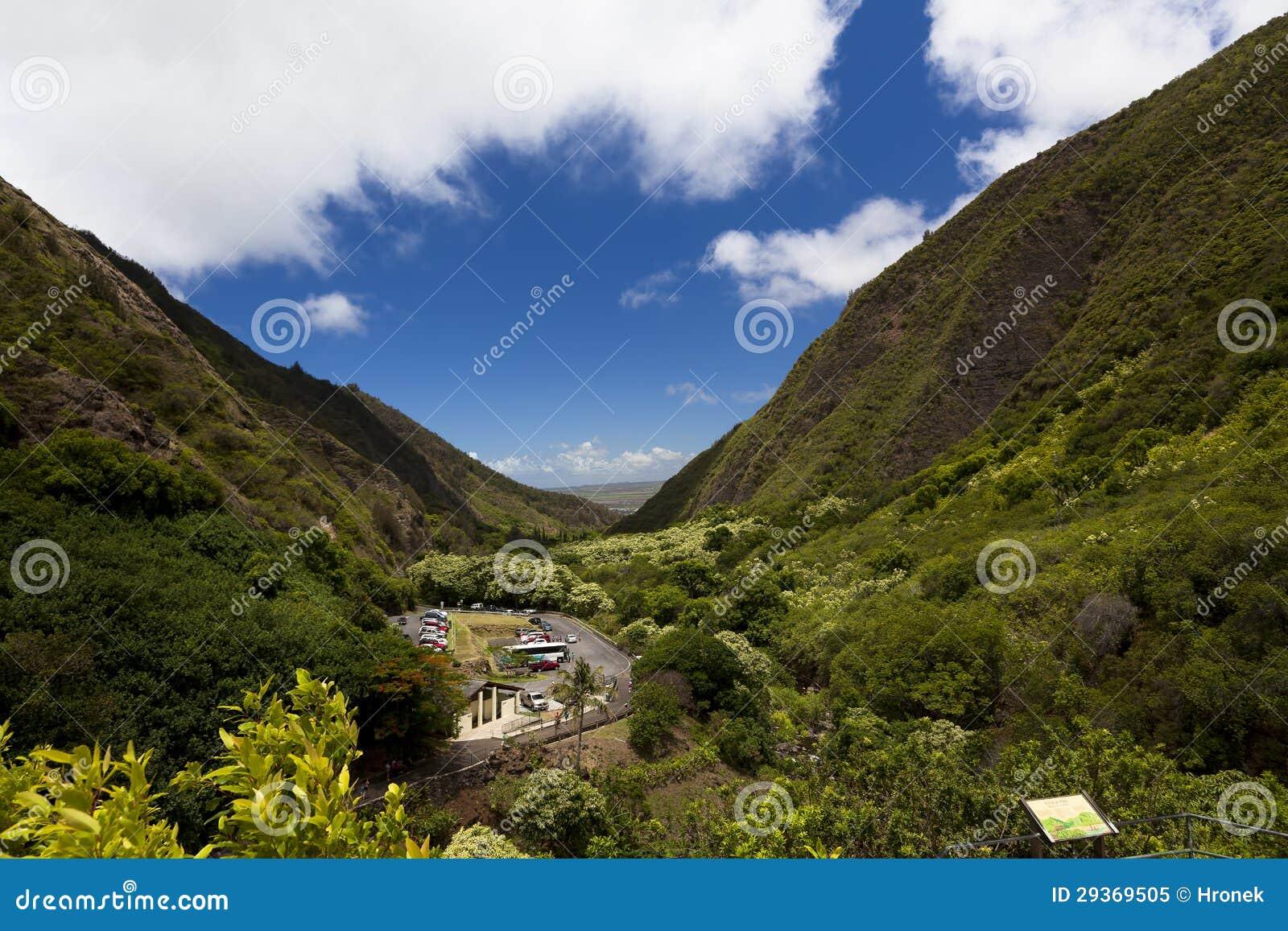 Iao Needle State Park In Maui, Wailuku Stock Image - Image ... Wailuku