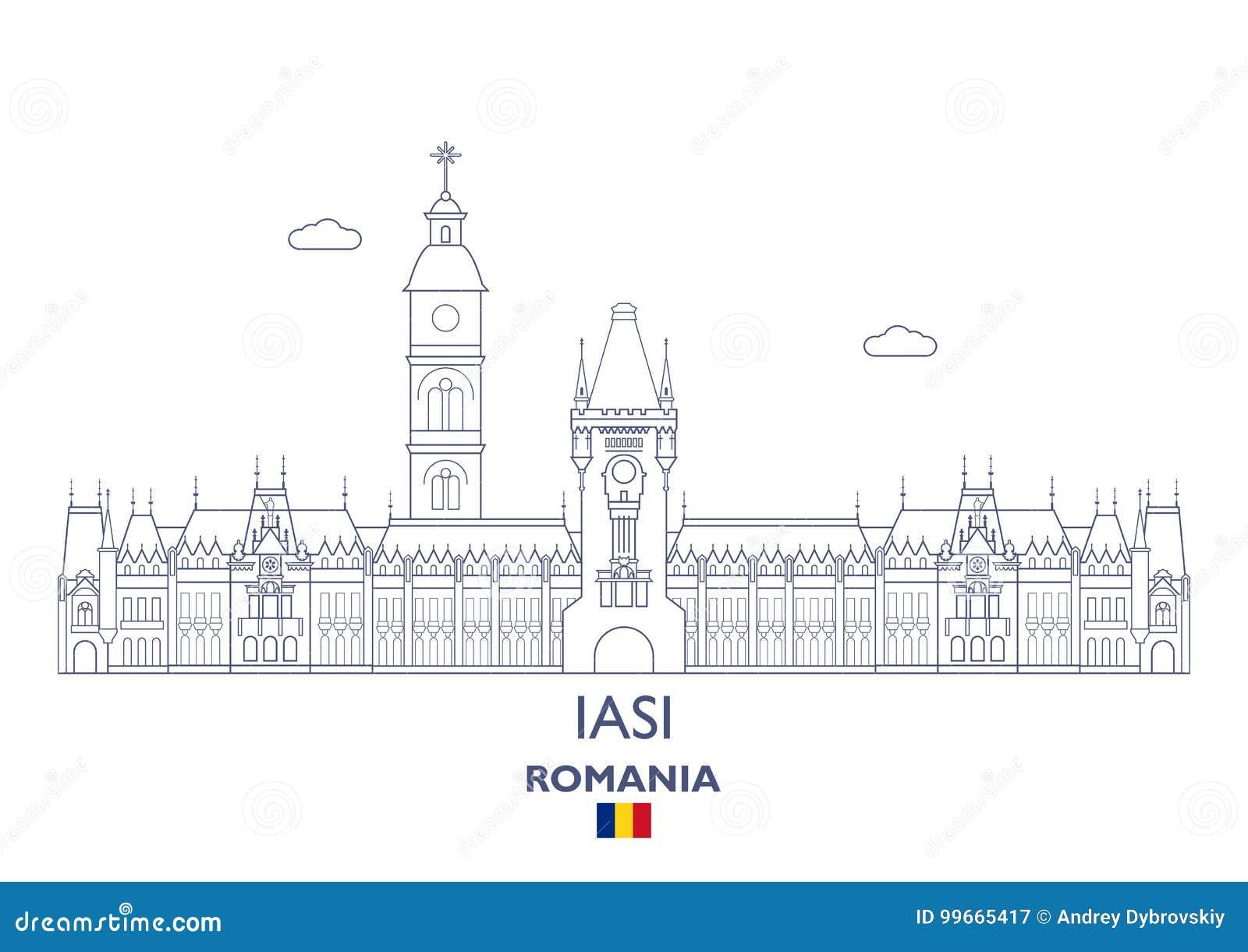 Iasi miasta linia horyzontu, Rumunia