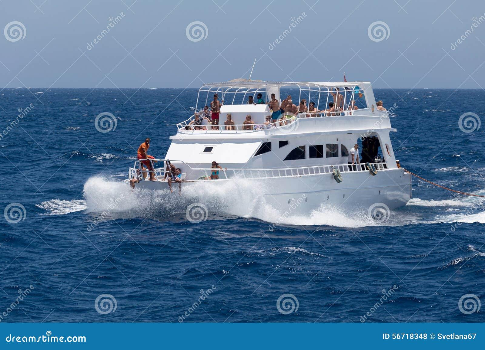 Iate de prazer no Mar Vermelho