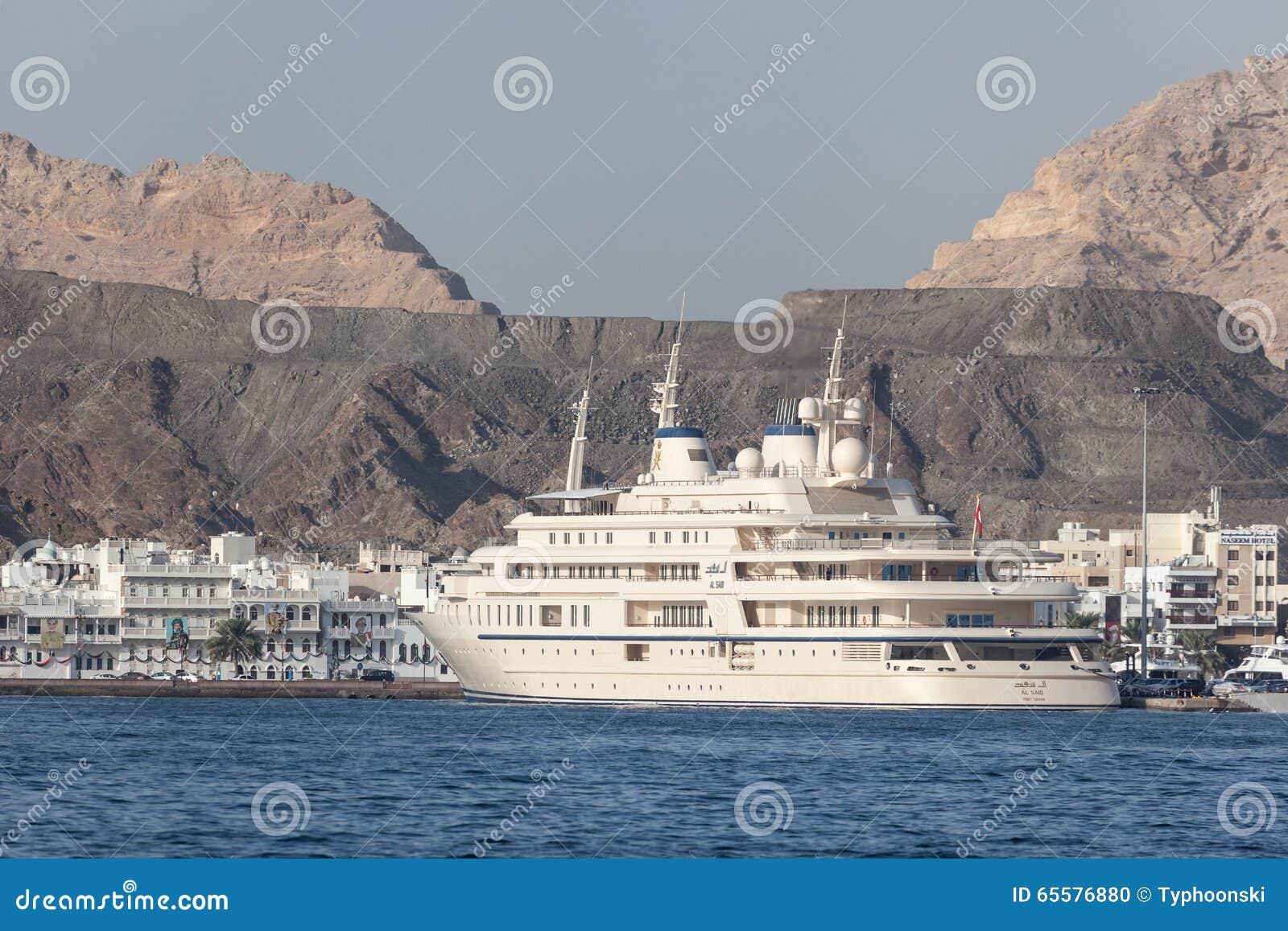 Iate de Sultan Qaboos em Muttrah, Omã