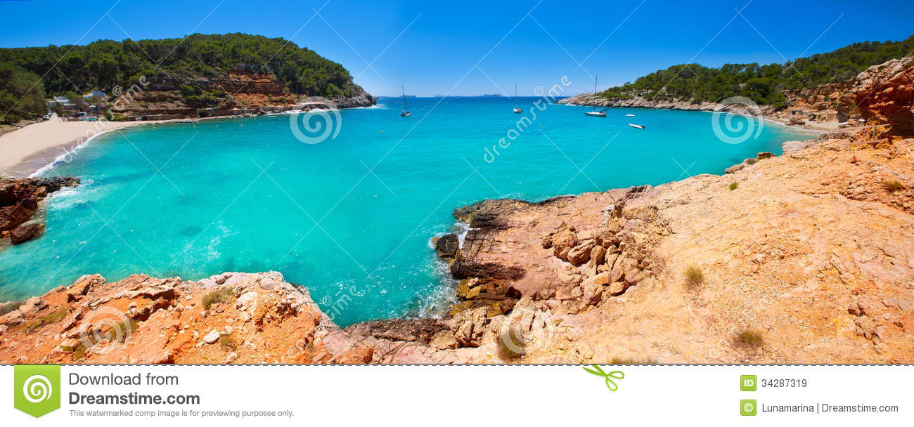 ibiza cala salada and saladeta in san antonio abad royalty free stock images image 34287319. Black Bedroom Furniture Sets. Home Design Ideas