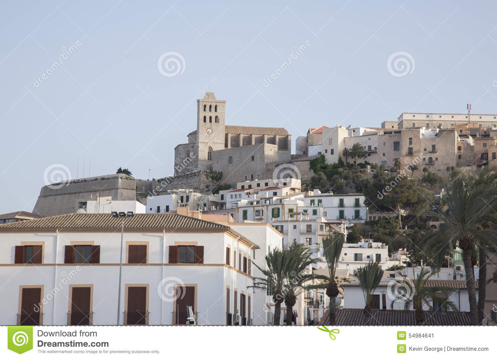 Ibiza domkyrka och stad