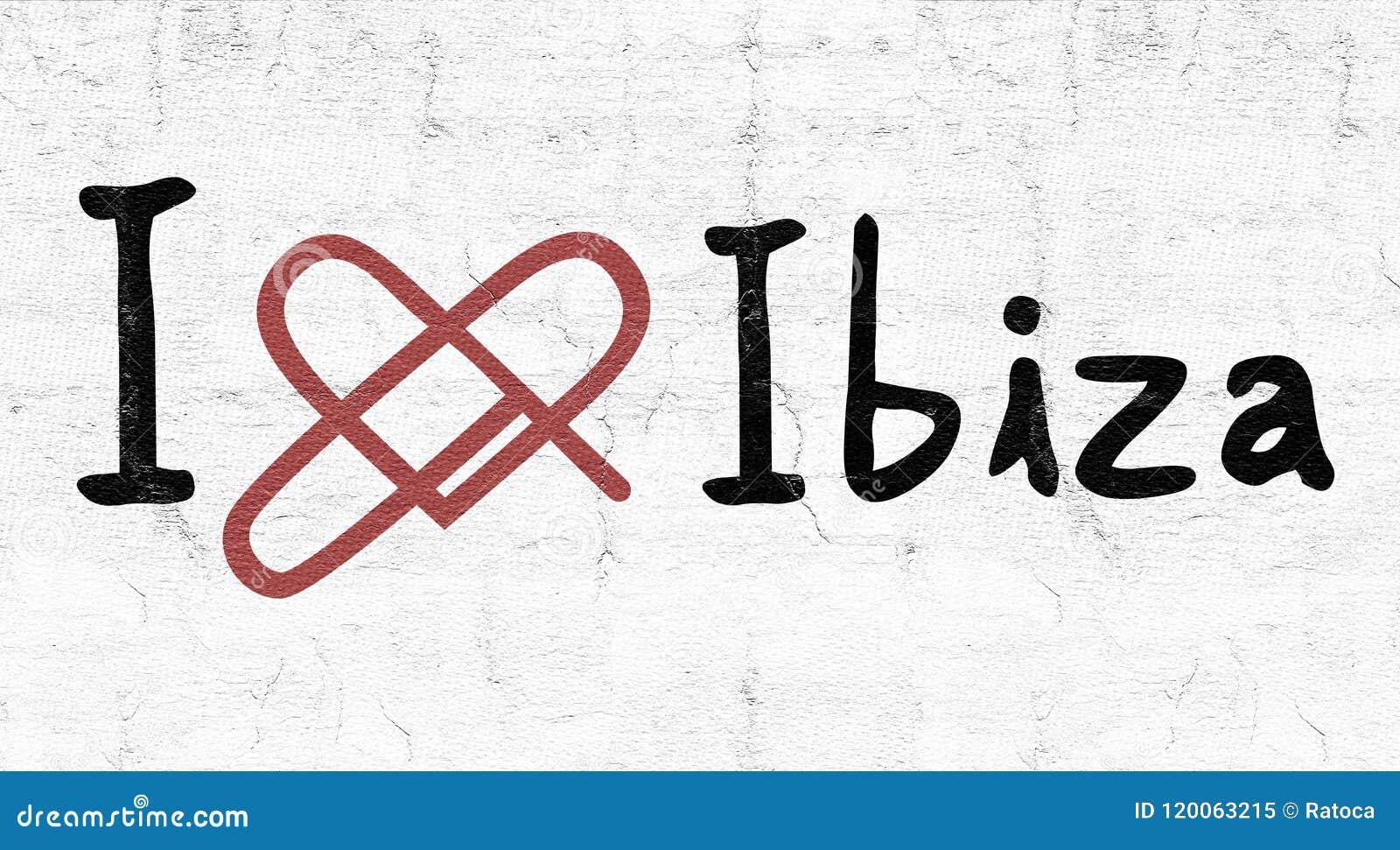 Ibiza förälskelsesymbol