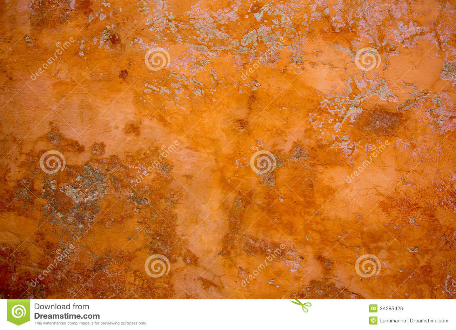 Orange Cement Wall : Ibiza mediterranean wall textures in orange concrete