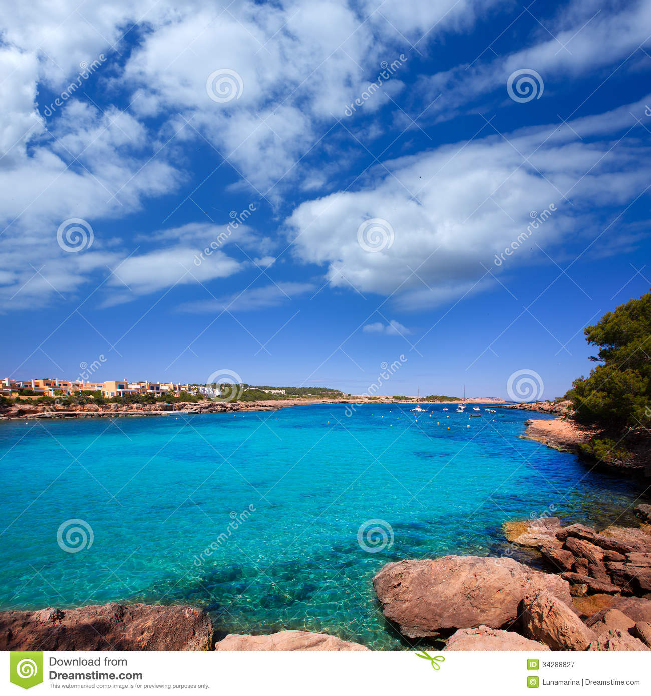 Ibiza Port Des Torrent Near San Antonio Beach Stock Image