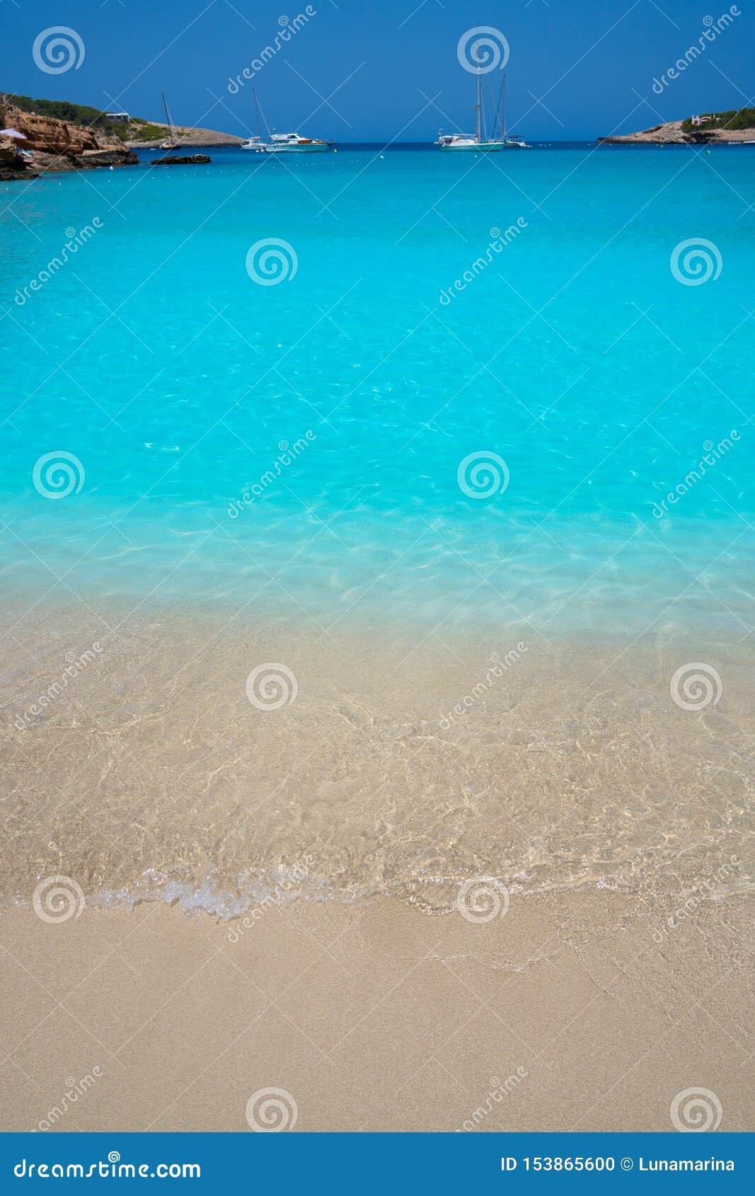 Ibiza Portinatx Arenal Petit plaża w Balearics