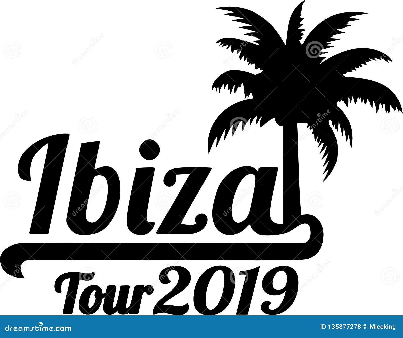 Ibiza turnerar palmträdet 2019