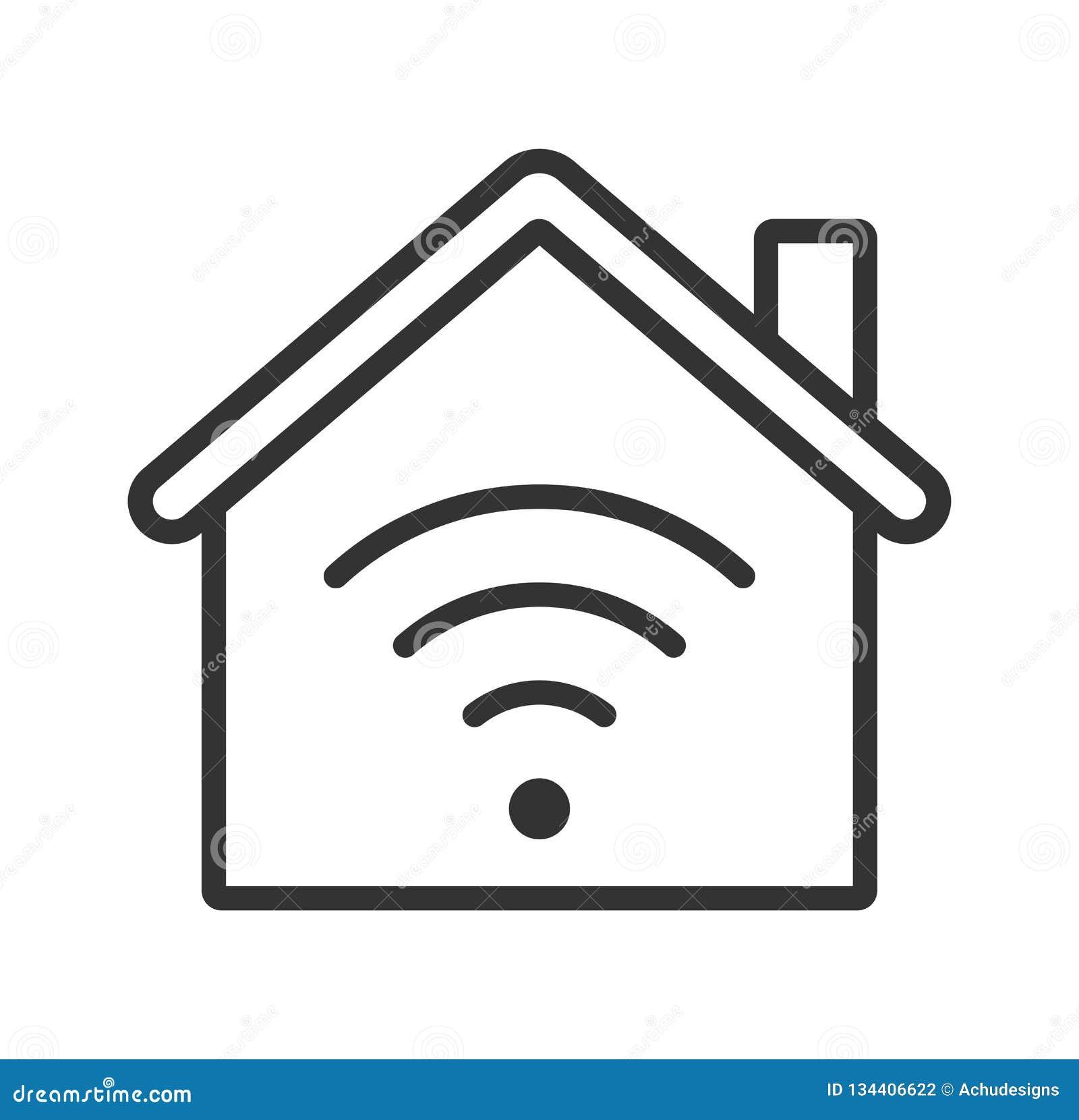 Icône à la maison de WiFi Maison intelligente