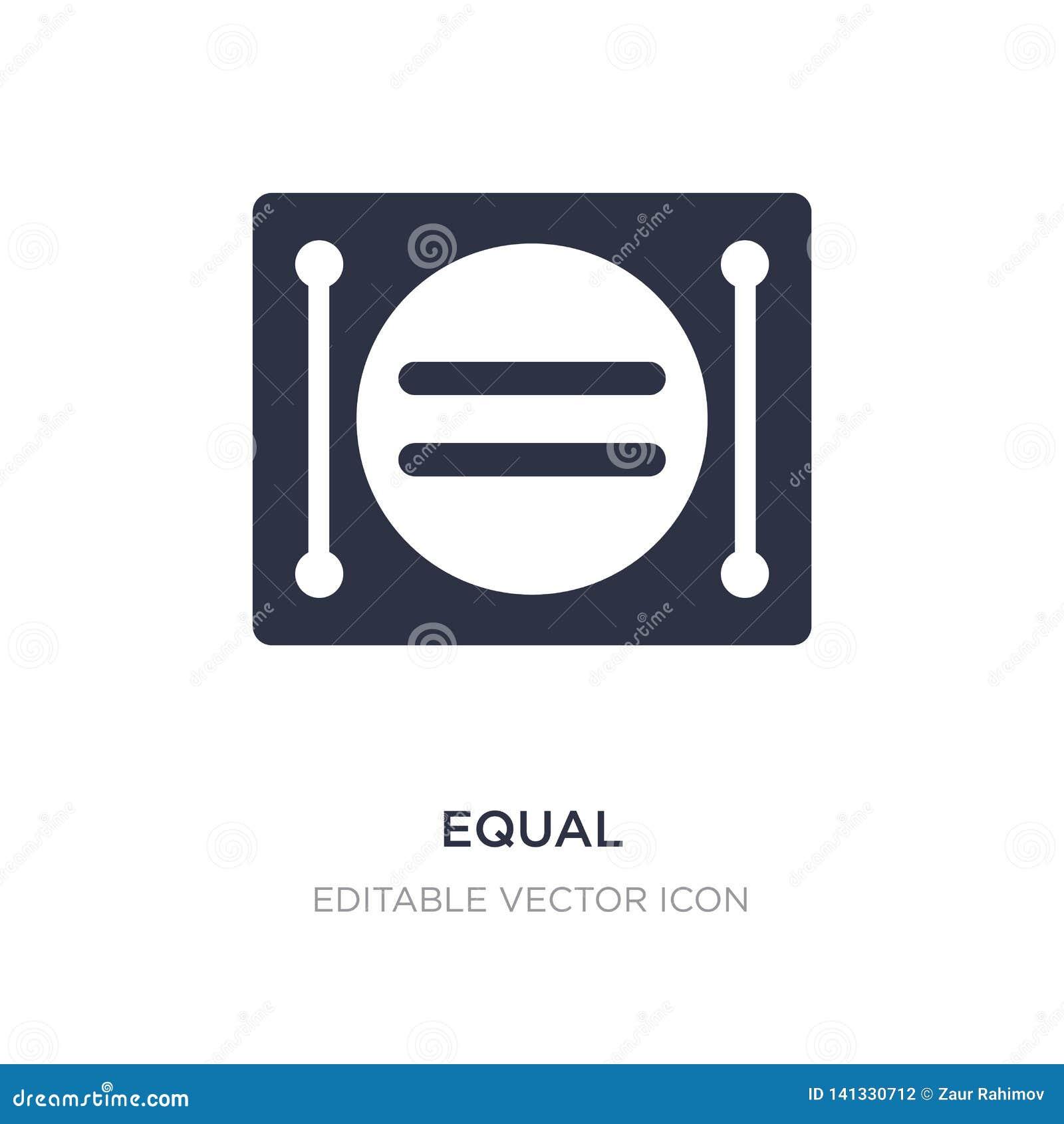 Icône égale sur le fond blanc Illustration simple d élément de concept de signes