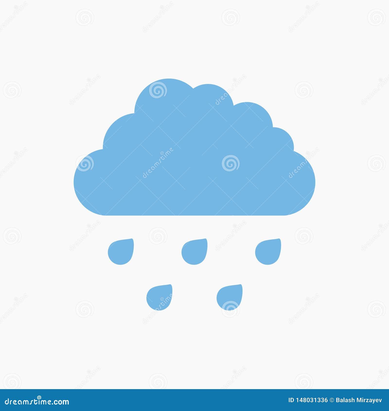 Icône bleue de nuage de pluie