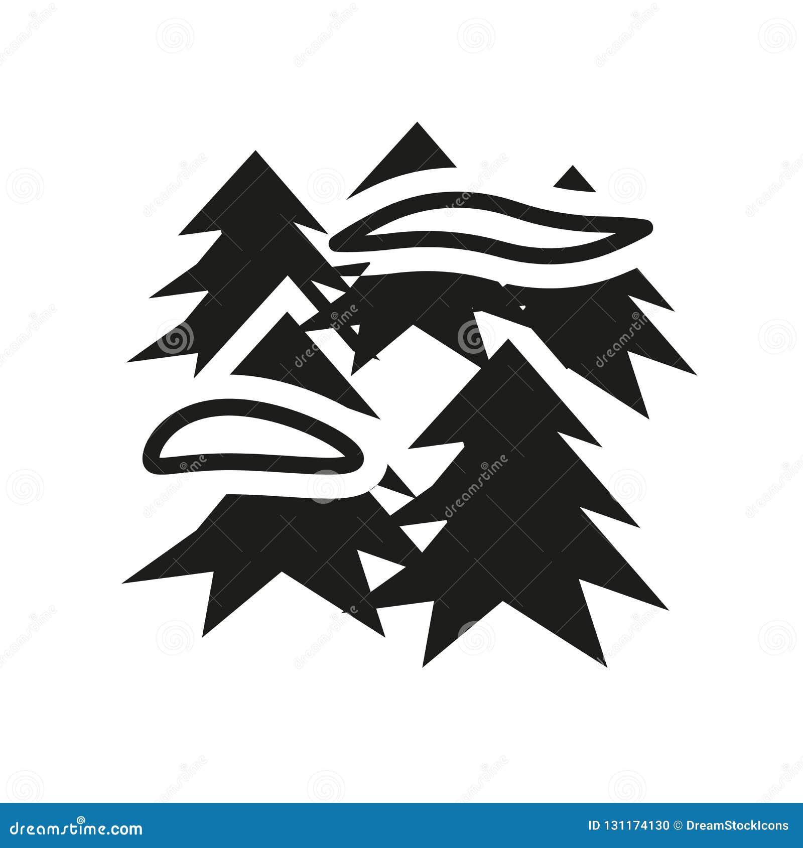 Icône brumeuse Concept brumeux à la mode de logo sur le fond blanc de W