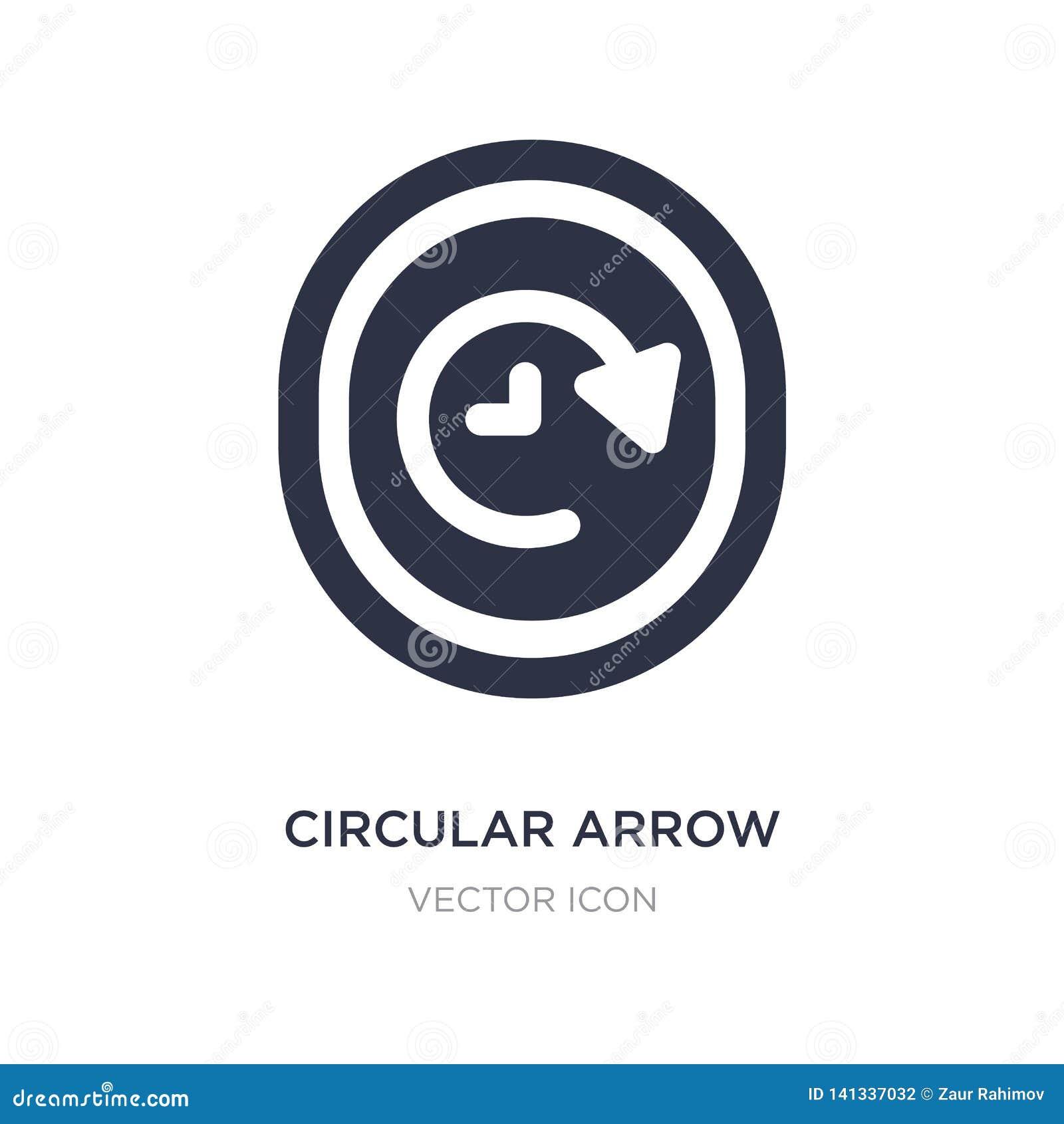 Icône circulaire d horloge de flèche sur le fond blanc Illustration simple d élément de concept d UI