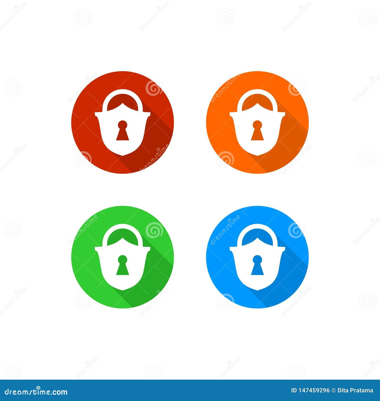 Icône colorée de cadenas