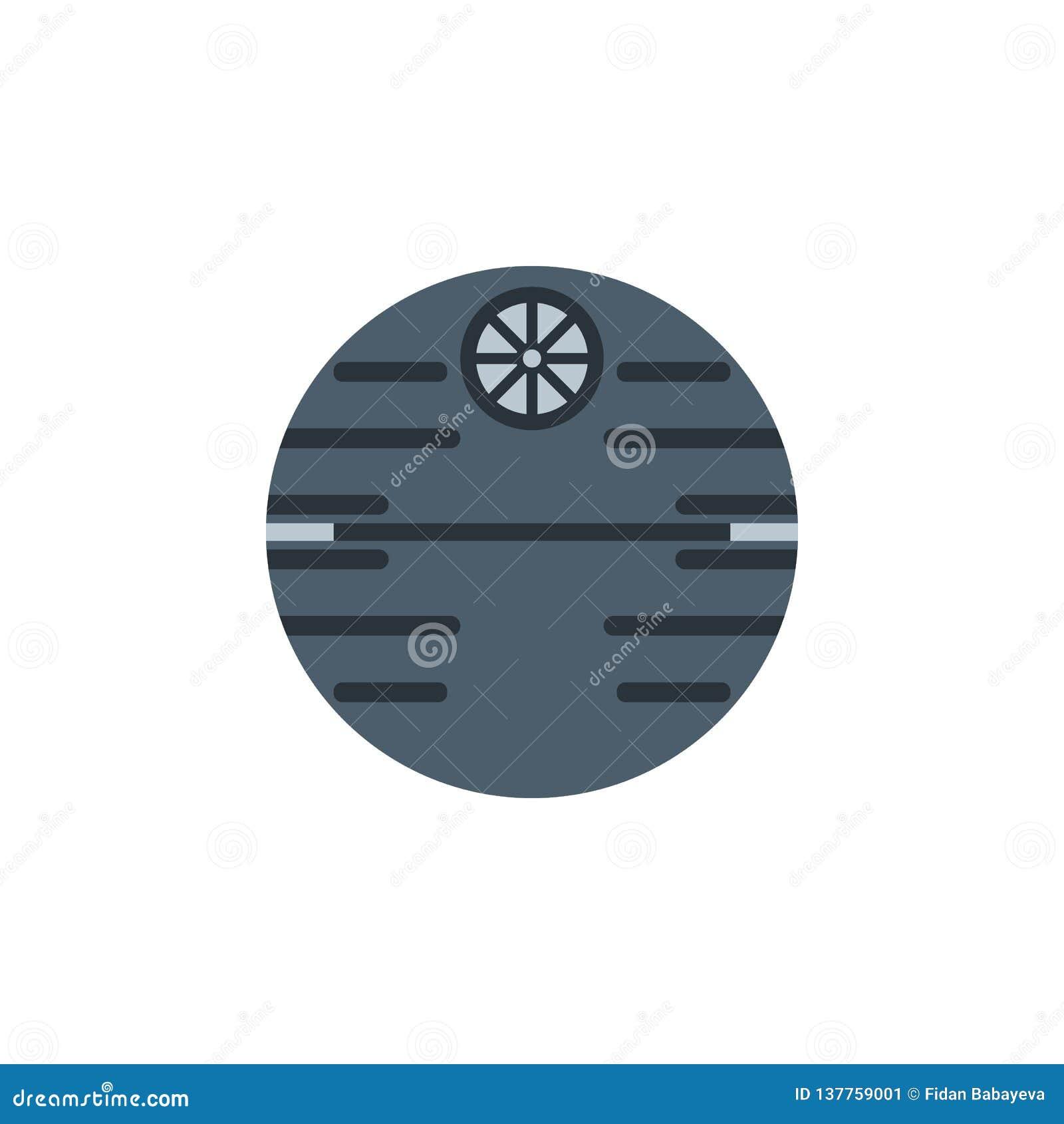 Icône colorée de station spatiale Élément d illustration de l espace Des signes et l icône de symboles peuvent être employés pour