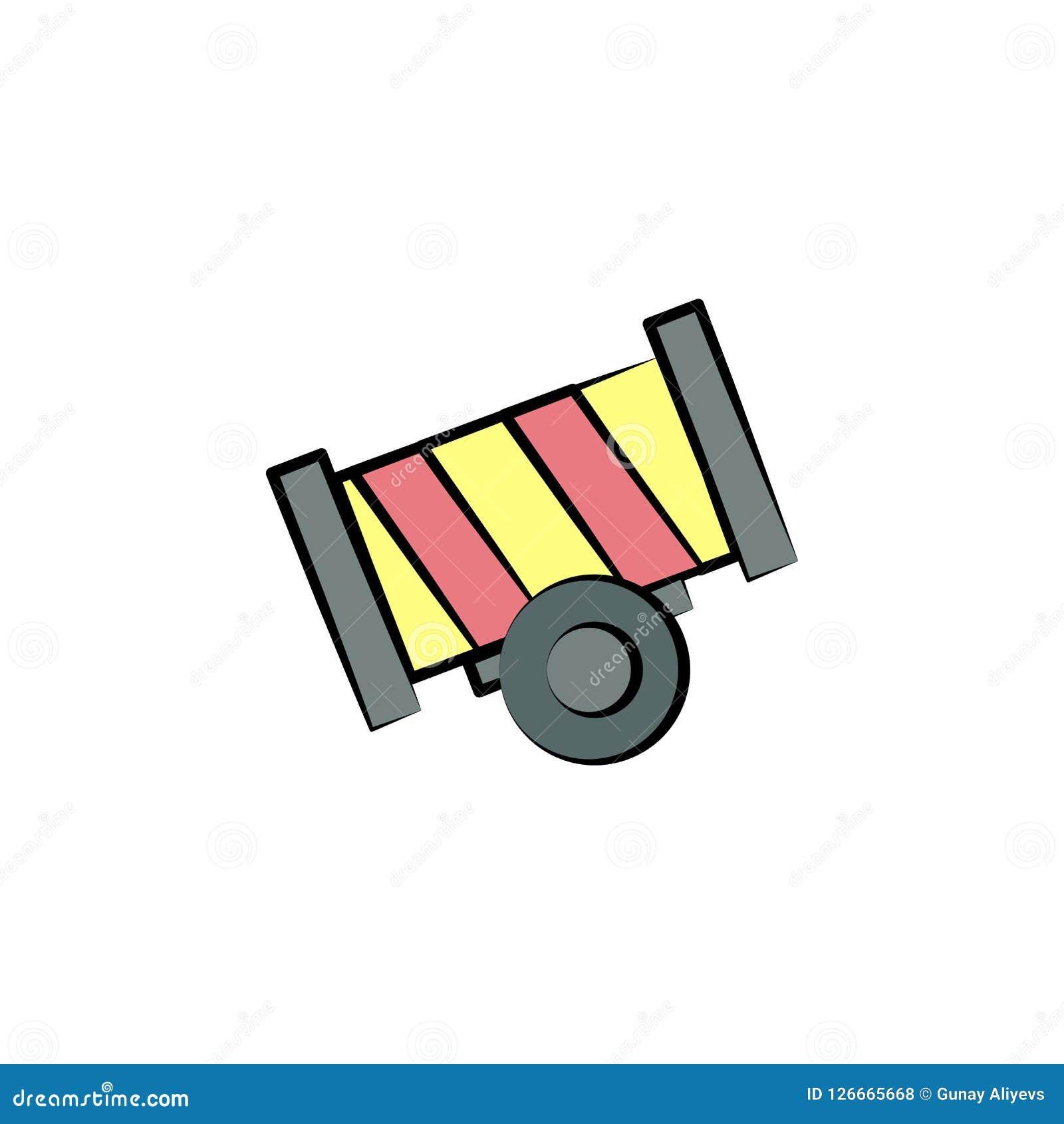 Icône Colorée Par Arme à Feu De Cirque élément D Icône