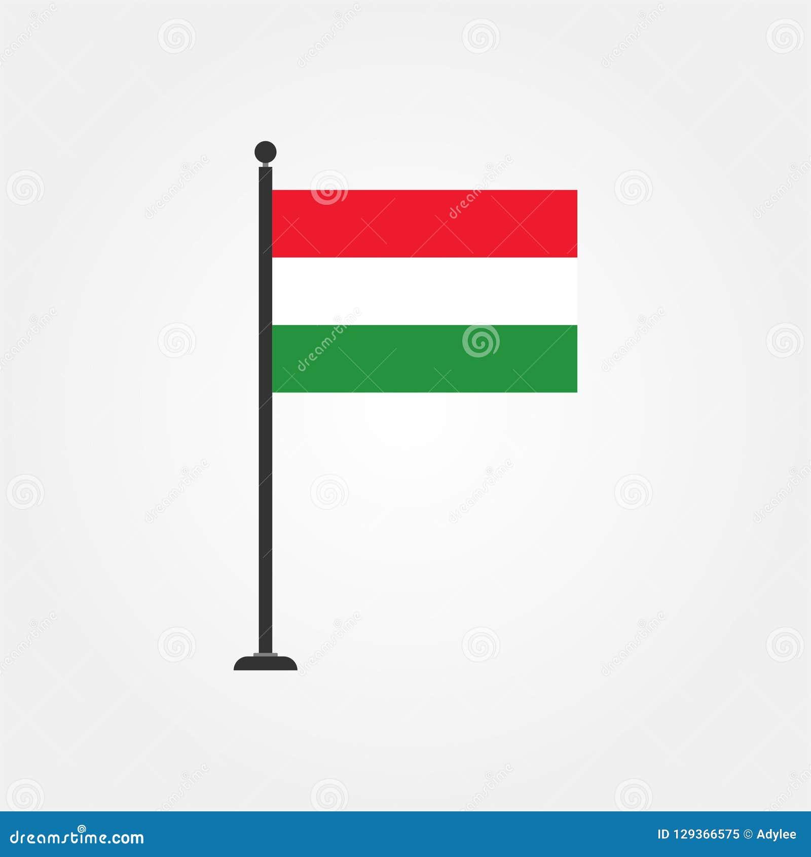 Icône courante 3 de drapeau de la Hongrie de vecteur