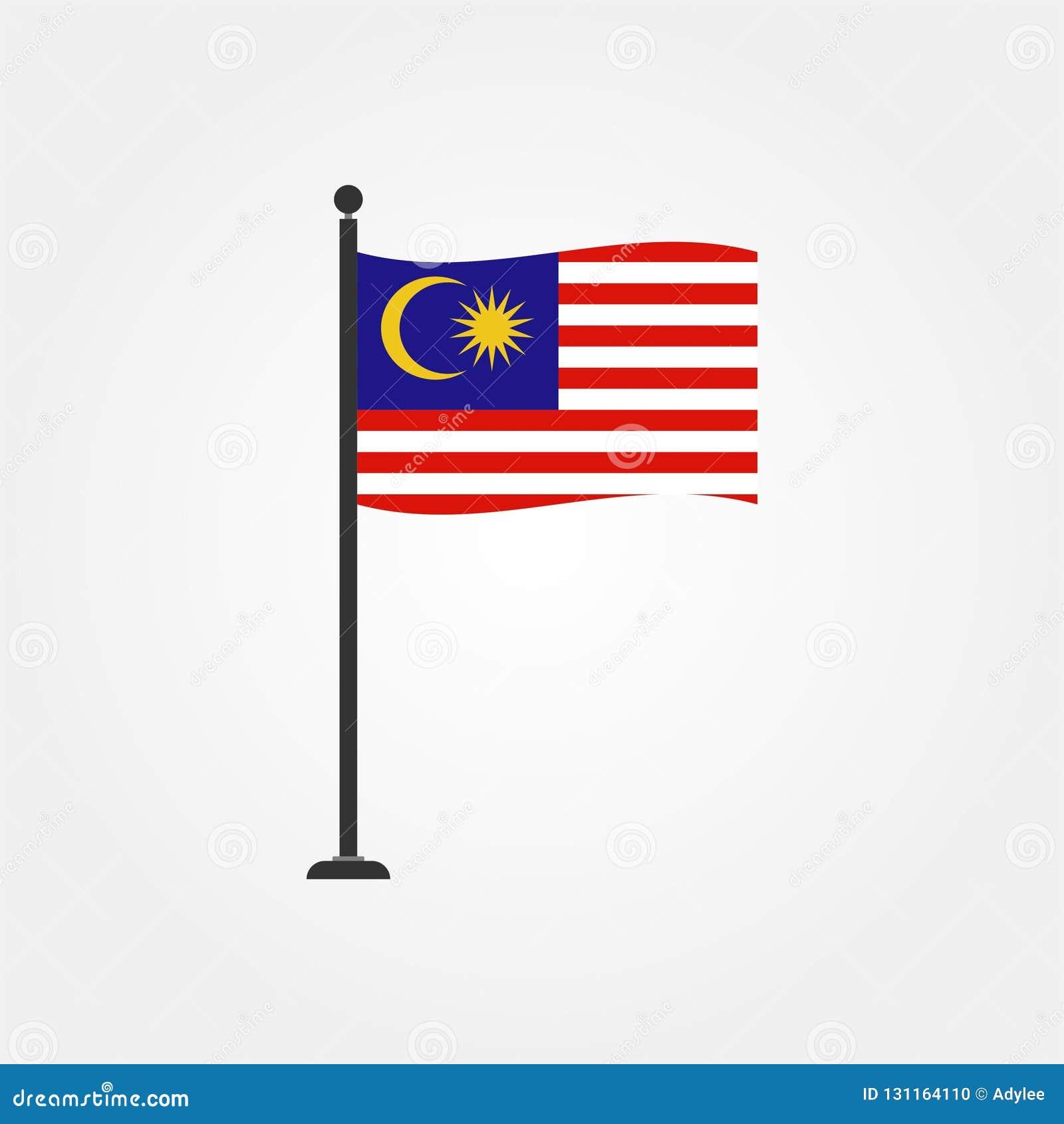 Icône courante 4 de drapeau de la Malaisie de vecteur