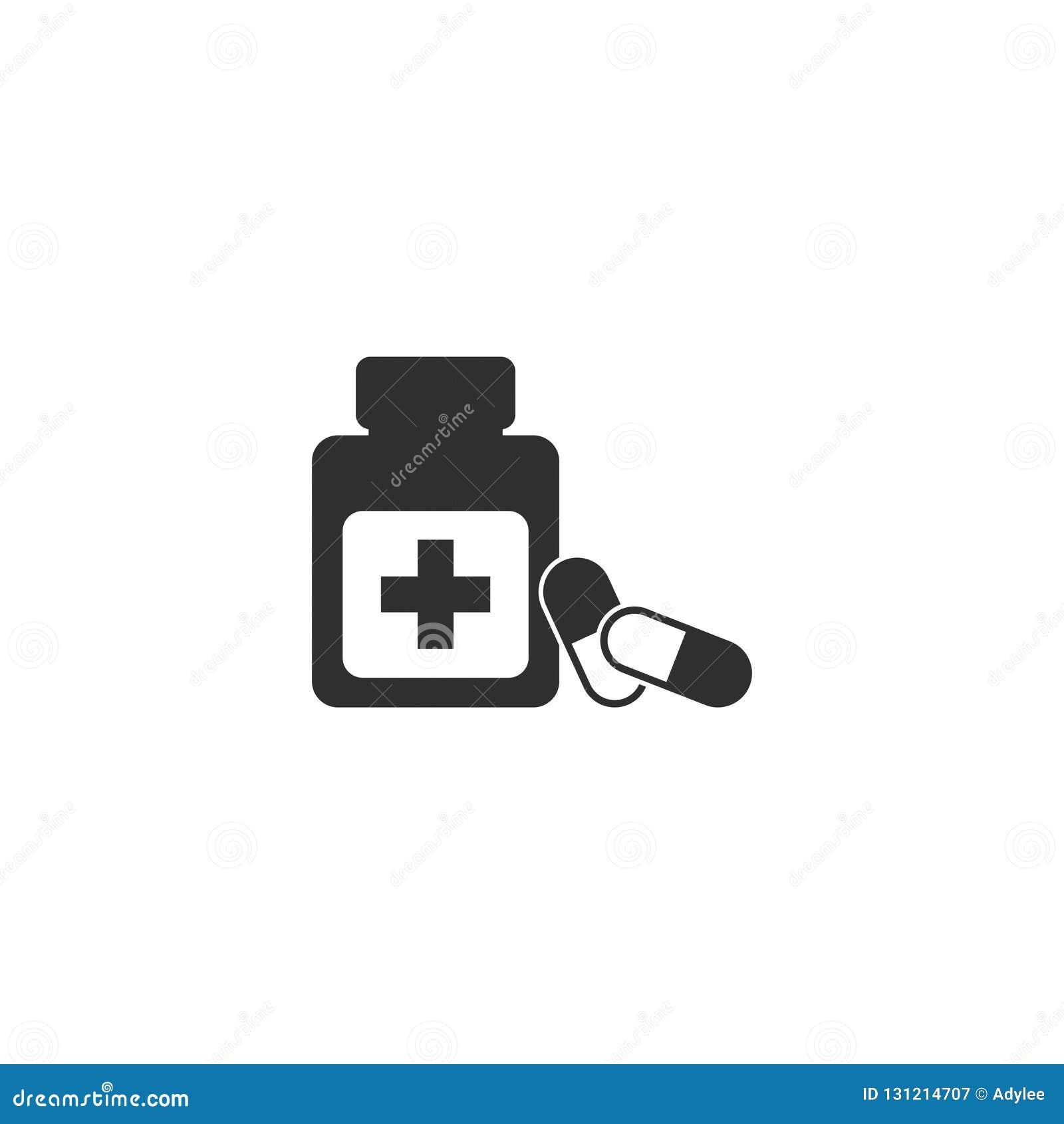 Icône courante 3 de pilule de vecteur