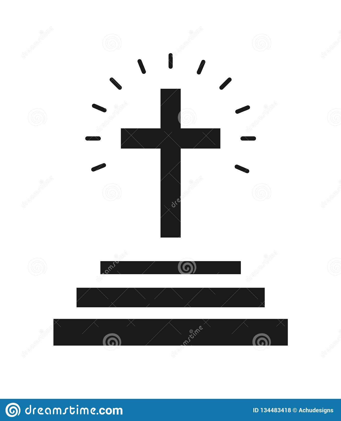 Icône croisée d église