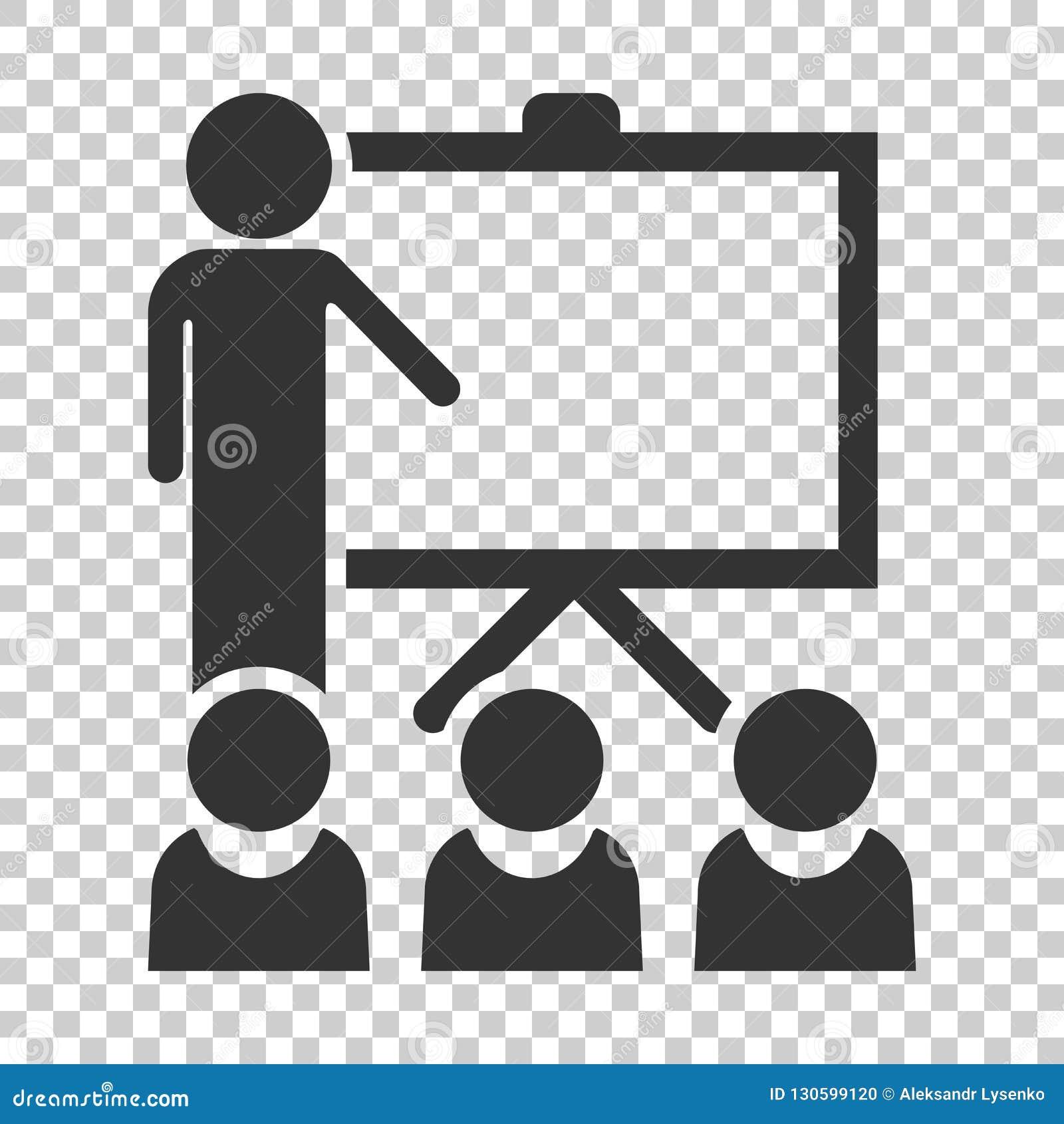 Icône d éducation de formation dans le style plat Défectuosité de vecteur de séminaire de personnes