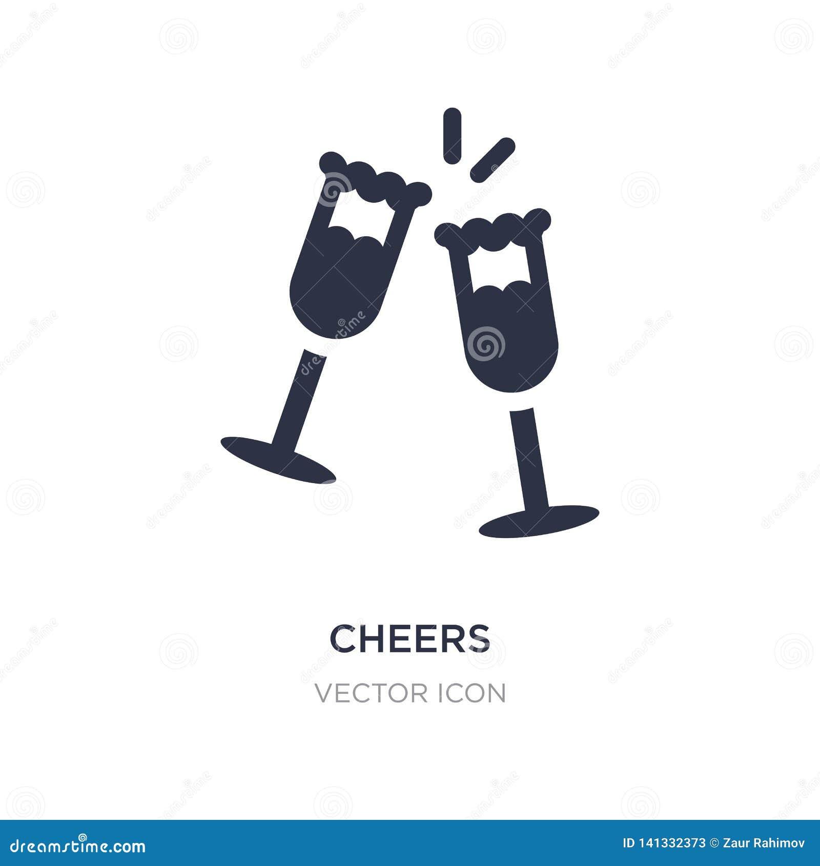 Icône d acclamations sur le fond blanc Illustration simple d élément de concept d alcool