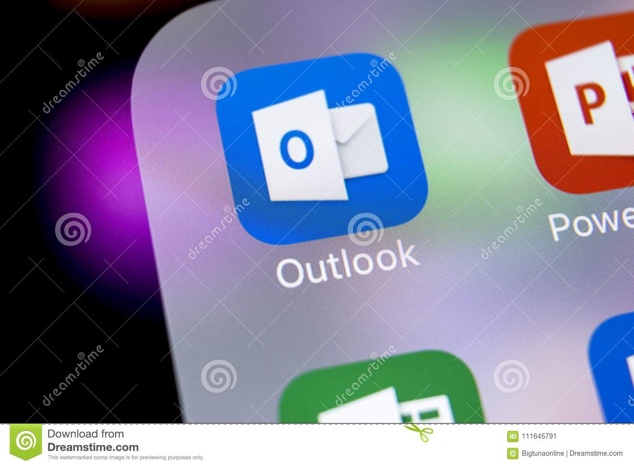 Icône d application de bureau de microsoft outlook sur le plan