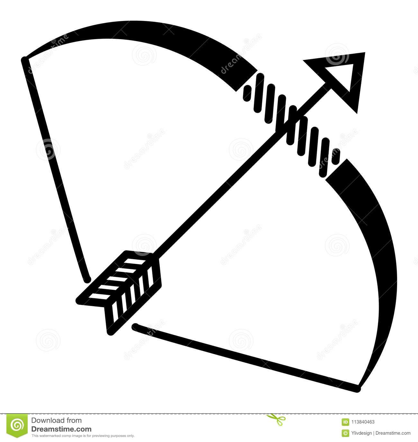 Icône d arc d Elven, style simple
