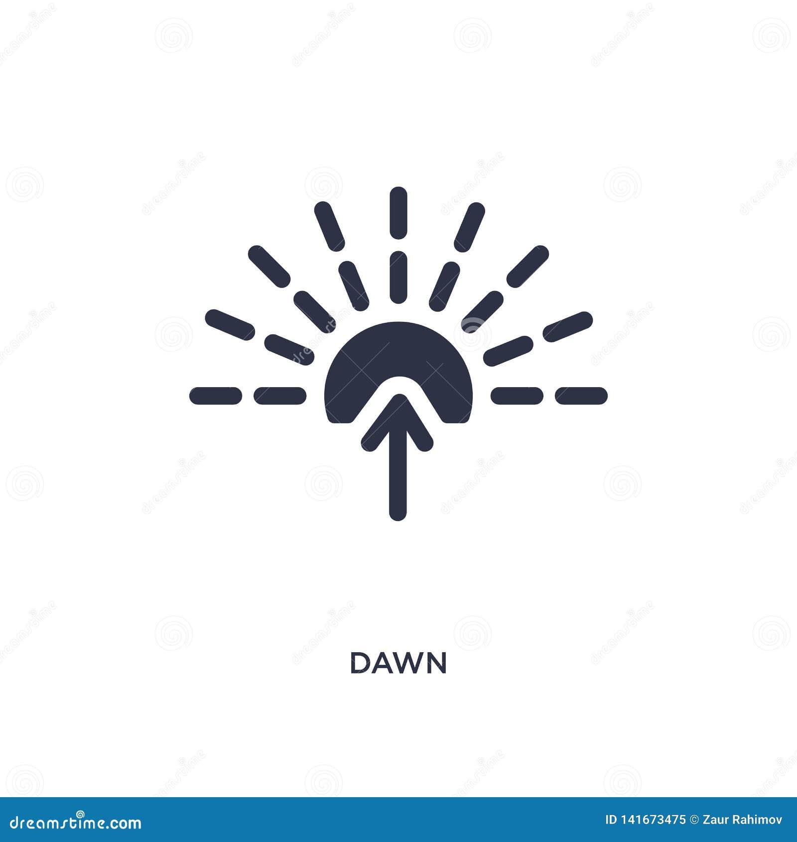 Icône d aube sur le fond blanc Illustration simple d élément de concept de temps