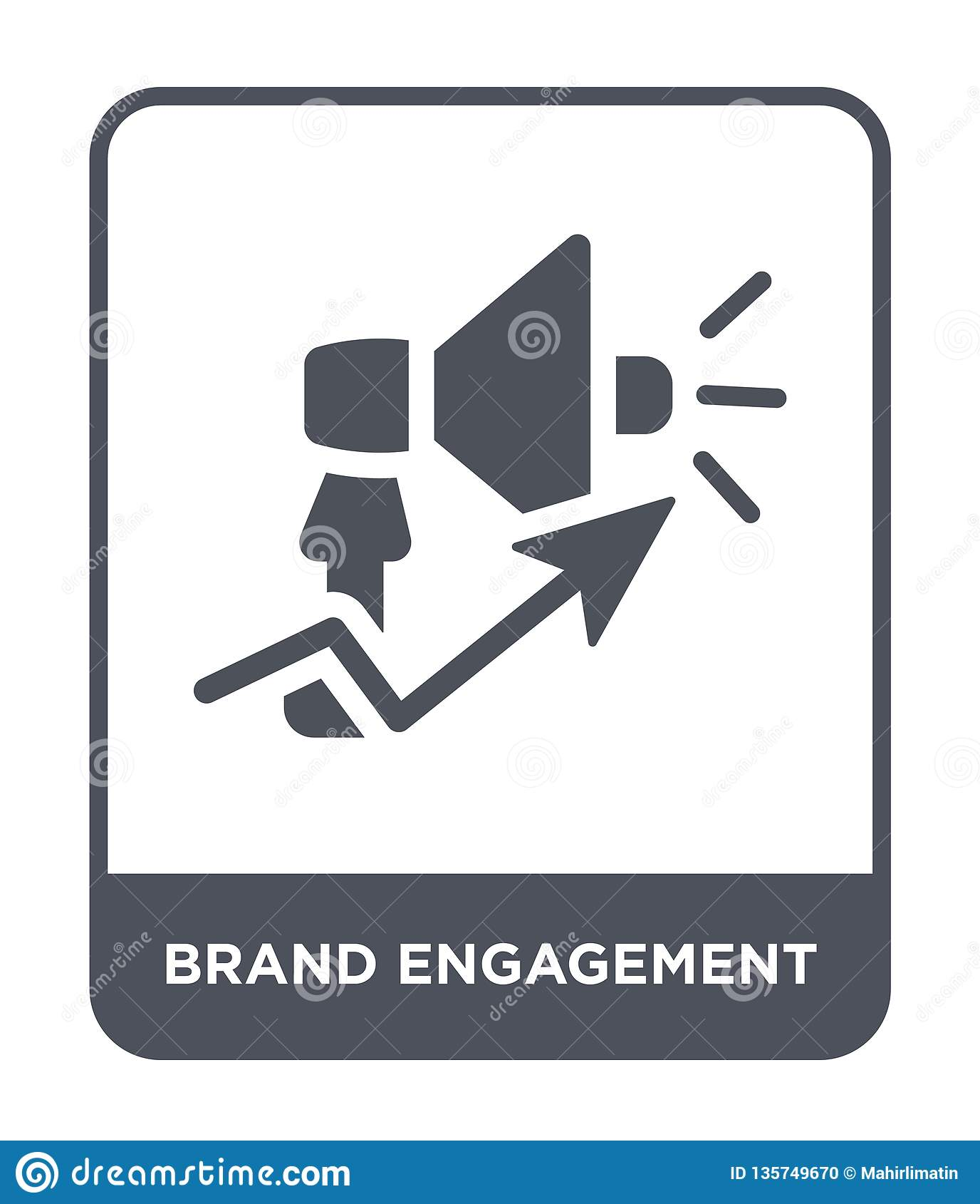 Icône d engagement de marque dans le style à la mode de conception icône d engagement de marque d isolement sur le fond blanc icô