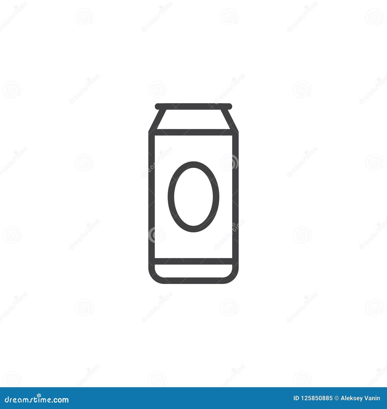 Icône d ensemble de canette de bière