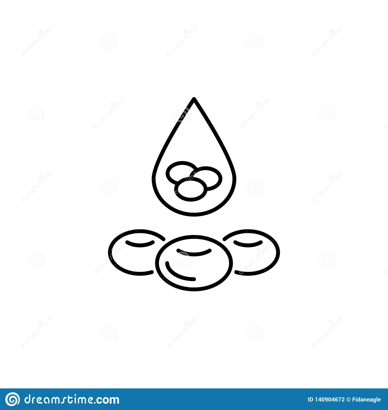 Icône d ensemble de globule sanguin d organe humain Des signes et les symboles peuvent être employés pour le Web, logo, l appli m