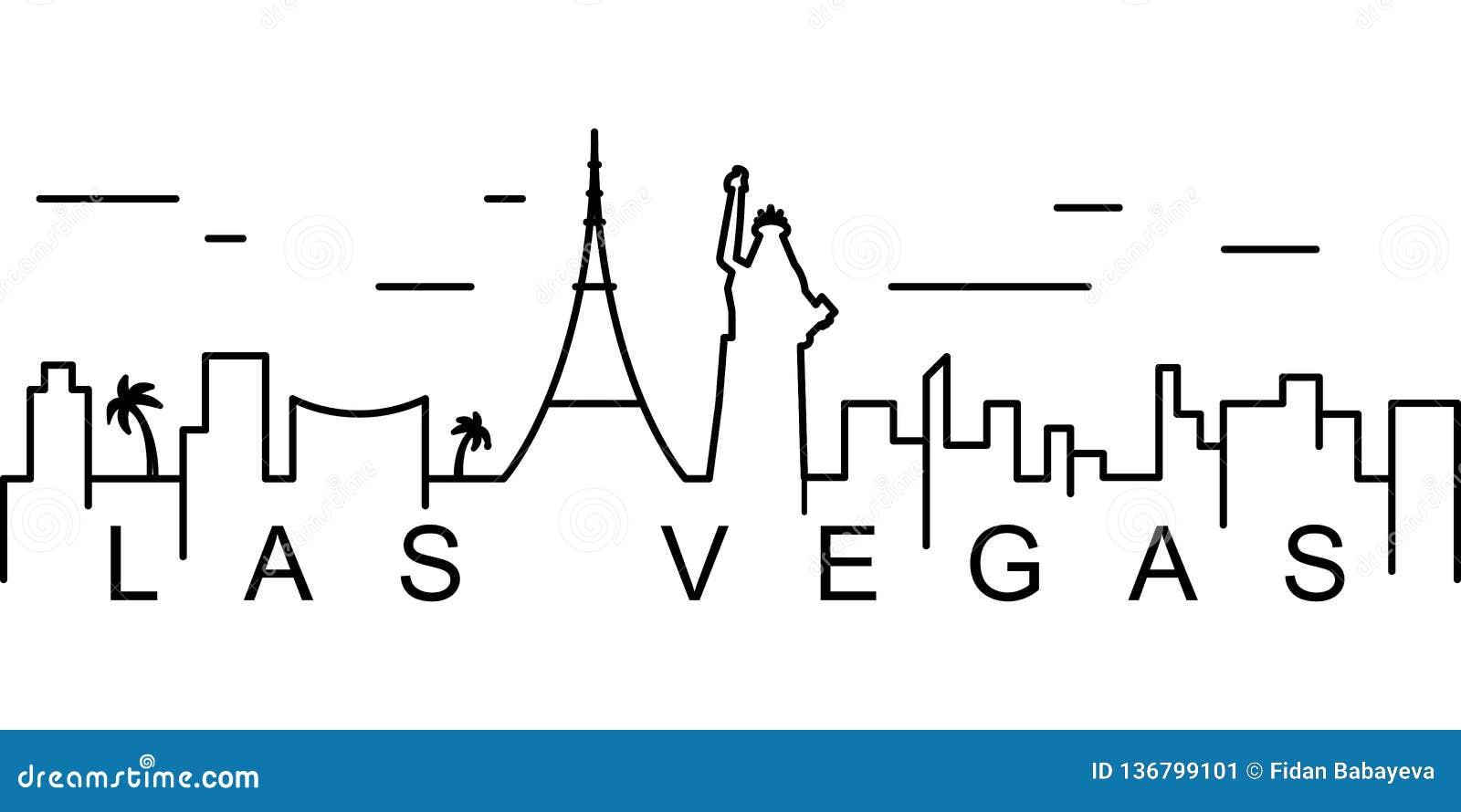 Icône d ensemble de Las Vegas Peut être employé pour le Web, logo, l appli mobile, UI, UX