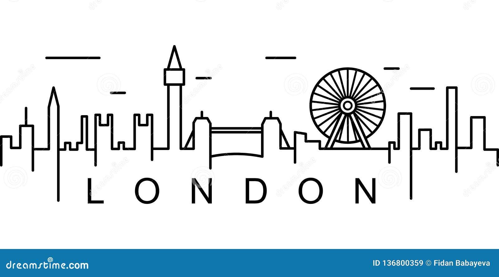 Icône d ensemble de Londres Peut être employé pour le Web, logo, l appli mobile, UI, UX