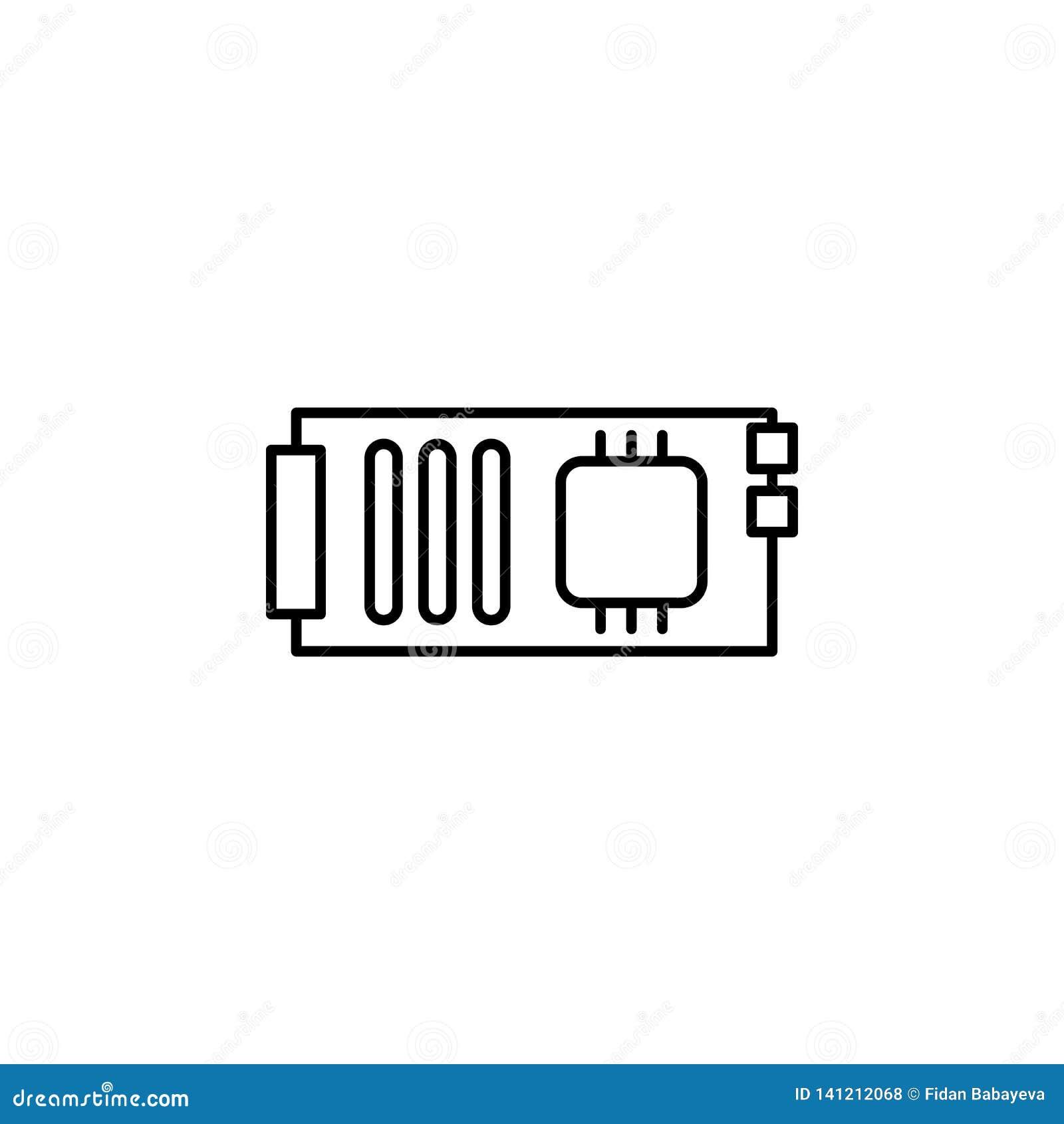 Icône d ensemble de mainboard de robotique Des signes et les symboles peuvent être employés pour le Web, logo, l appli mobile, UI