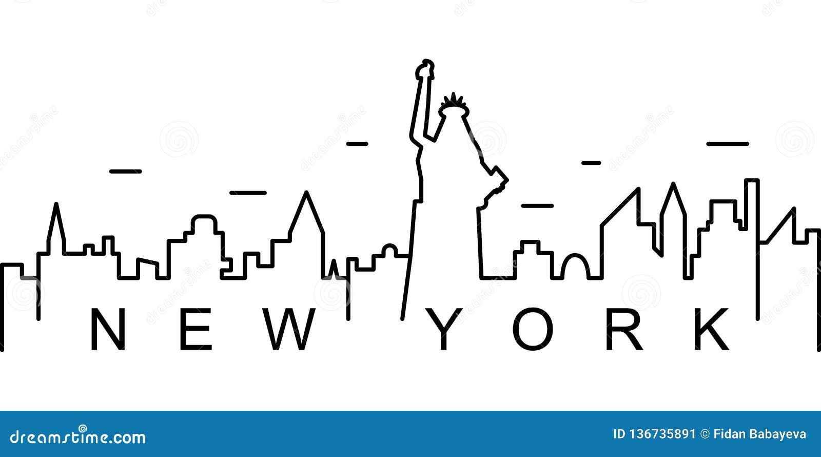 Icône d ensemble de New York Peut être employé pour le Web, logo, l appli mobile, UI, UX