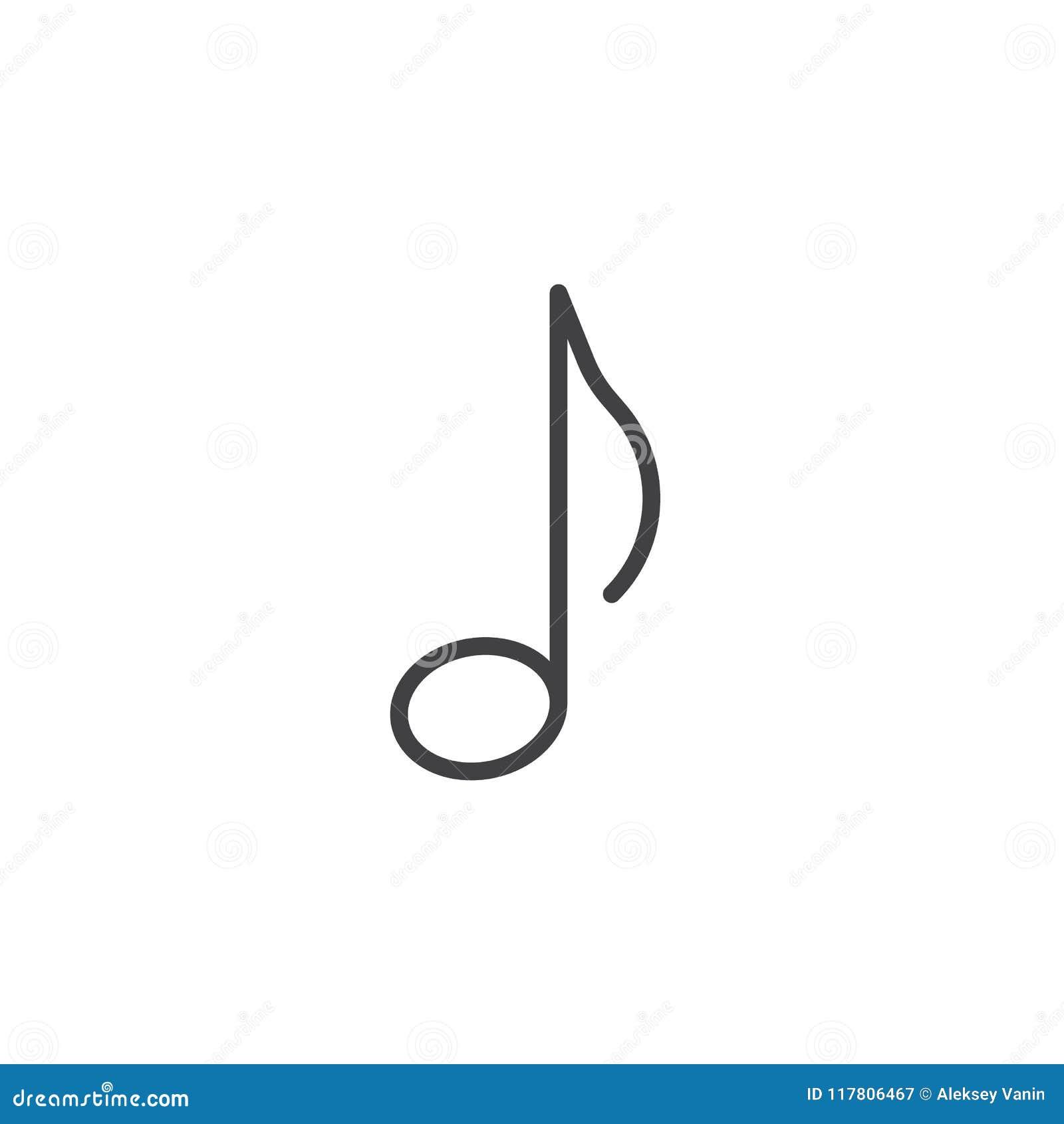 Icone D Ensemble De Note De Musique De Tremblement Illustration De