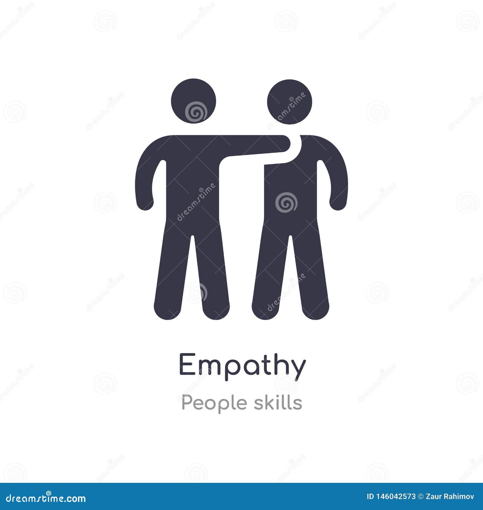 Icône d ensemble d empathie ligne d isolement illustration de vecteur de collection de qualifications de personnes icône mince ed