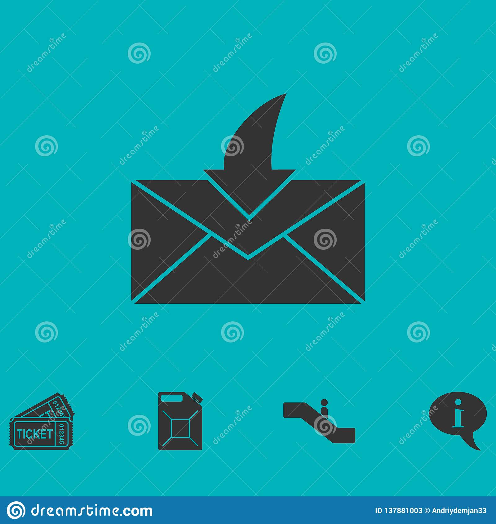 Icône d enveloppe plate