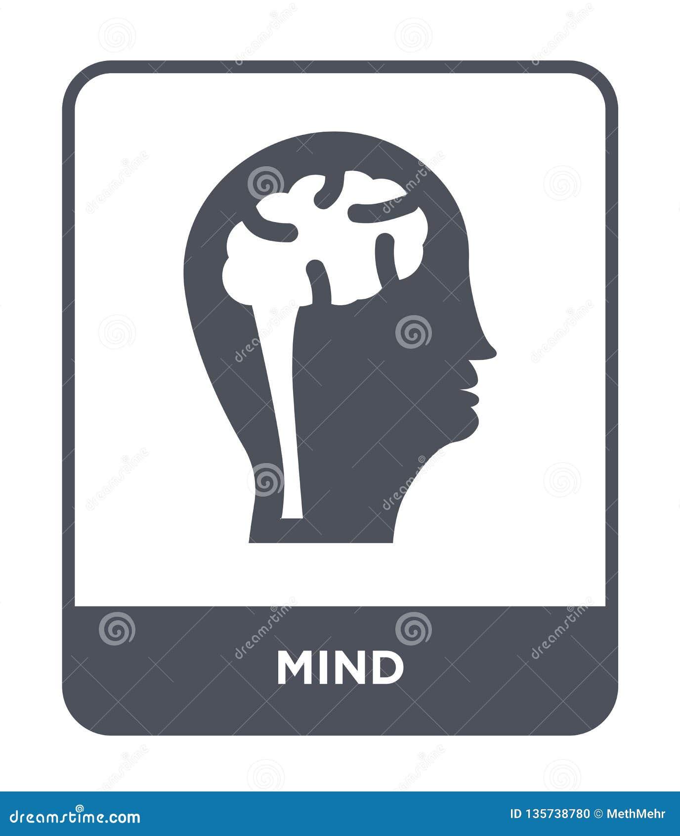 Icône d esprit dans le style à la mode de conception icône d esprit d isolement sur le fond blanc symbole plat simple et moderne