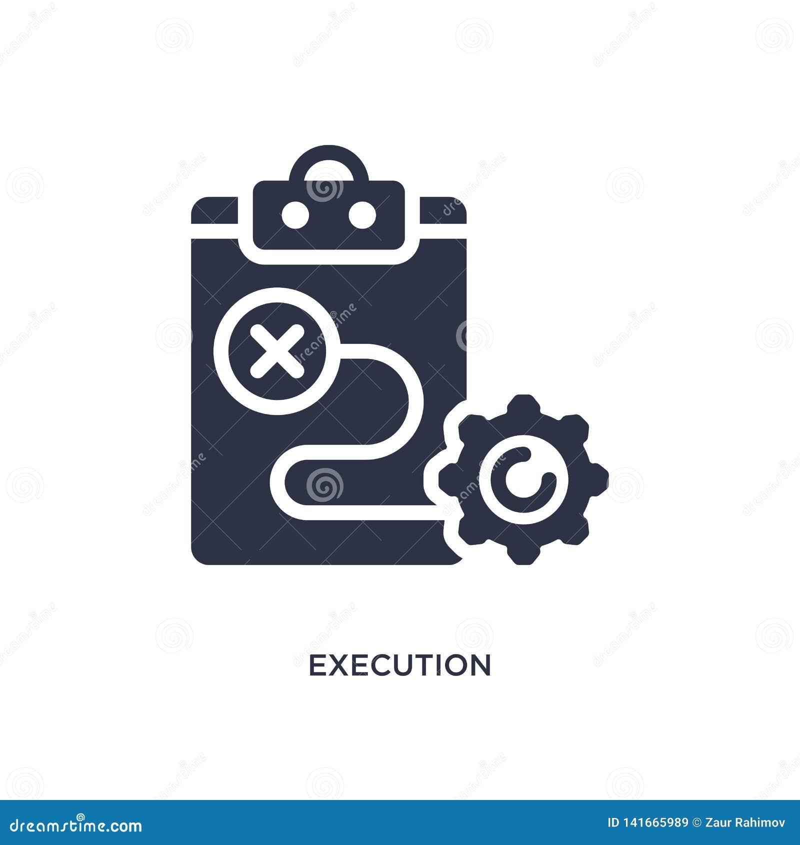 Icône d exécution sur le fond blanc Illustration simple d élément de concept de commercialisation