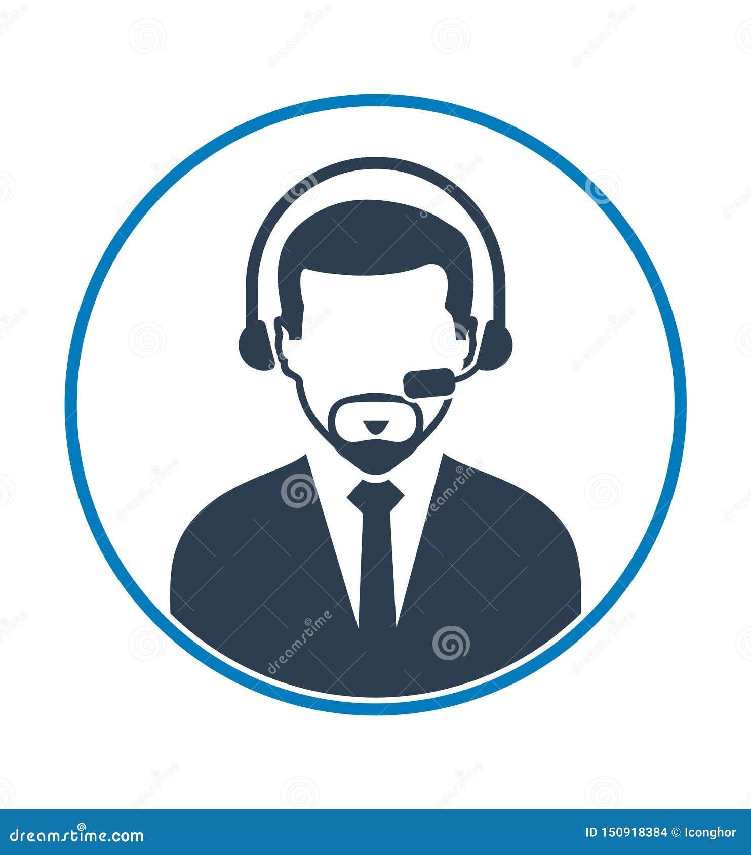 Icône d exploitant de centre serveur d appel