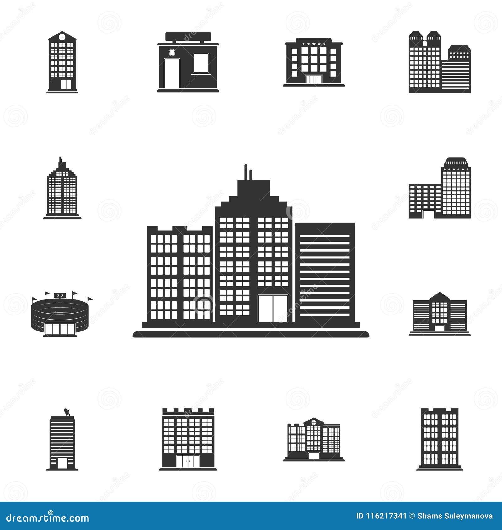 Icône Dimmeuble De Bureaux Illustration Simple Délément Conception