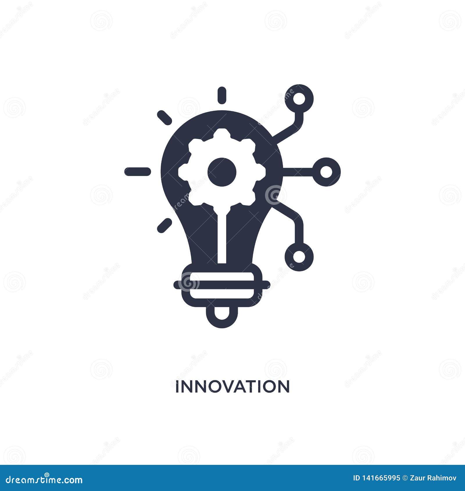 Icône d innovation sur le fond blanc Illustration simple d élément de concept de commercialisation
