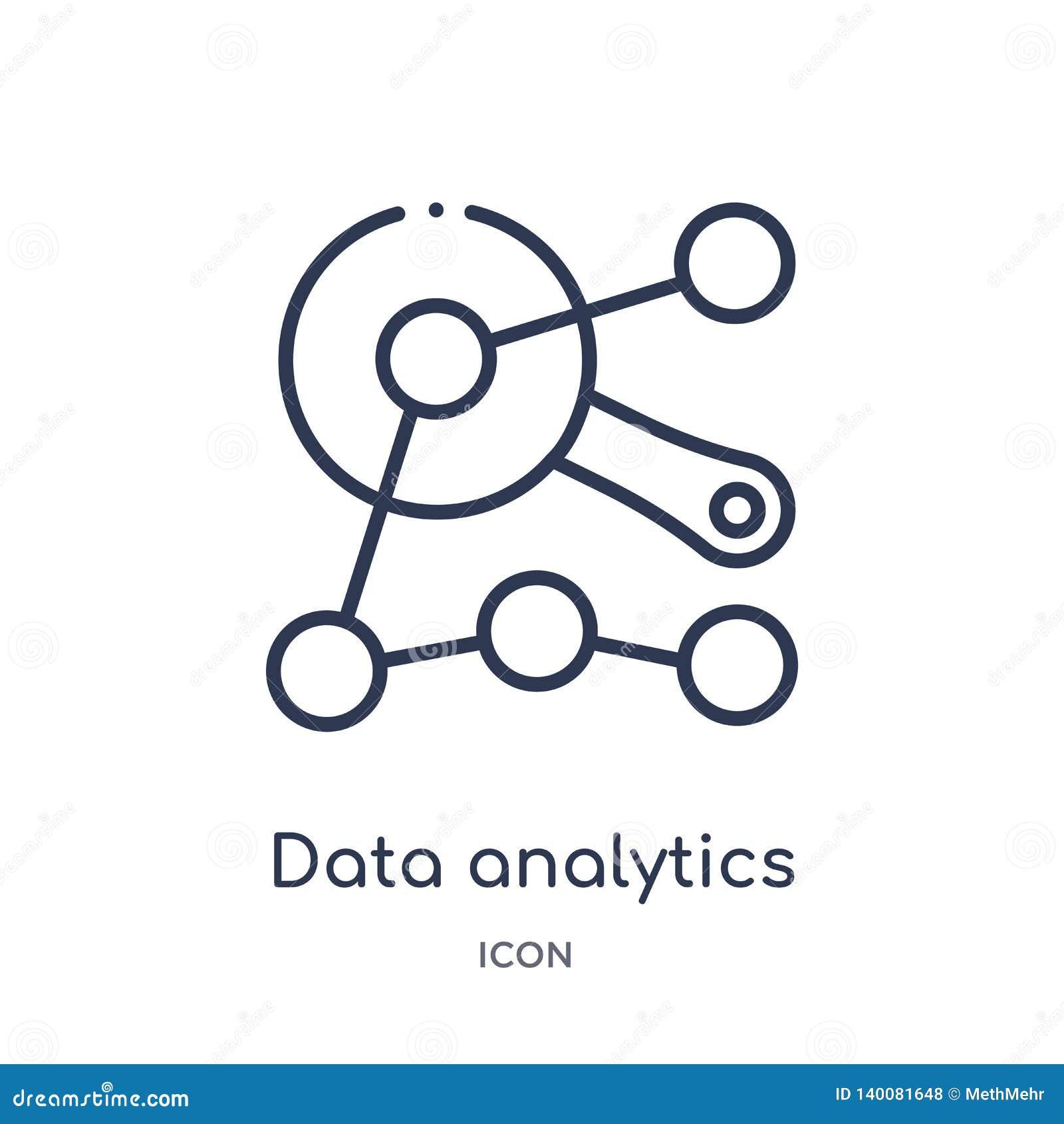 Icône d interface d analytics de données de collection d ensemble d interface utilisateurs Ligne mince icône d interface d analyt