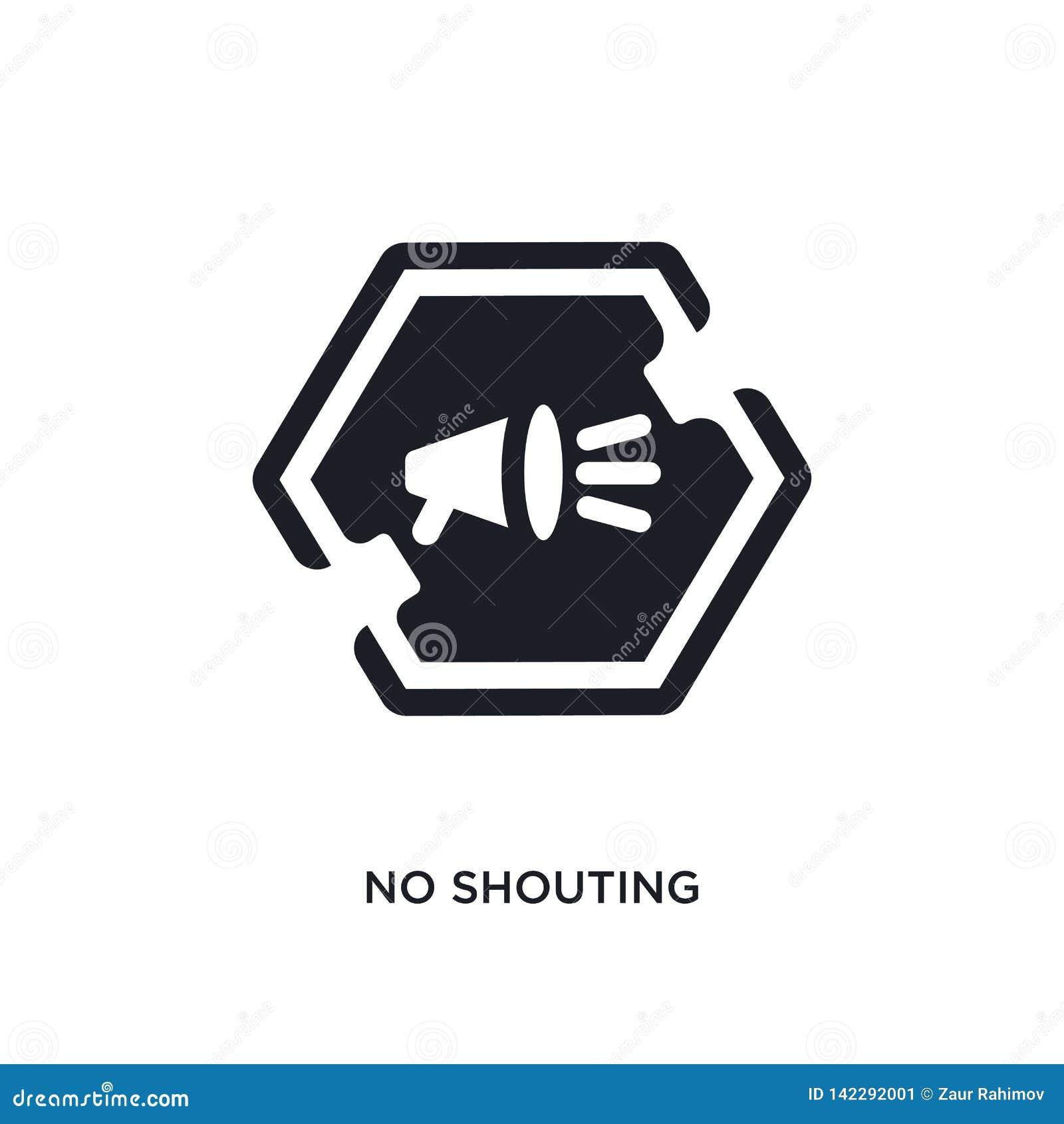 Icône d isolement non de cri illustration simple d élément des icônes de concept de signes conception editable non de cri de symb