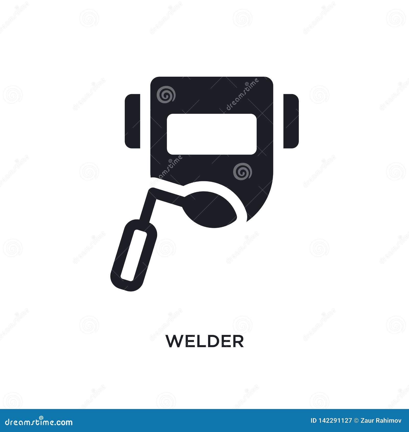 Icône d isolement par soudeuse illustration simple d élément des icônes politiques de concept conception editable de symbole de s