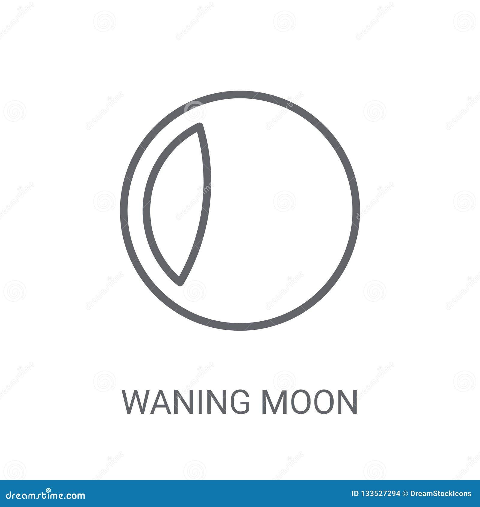 Icône de affaiblissement de lune Concept de affaiblissement à la mode de logo de lune sur le backg blanc